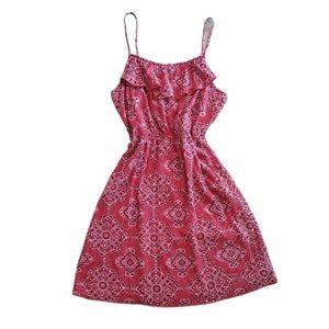 Red bandana print sun dress old navy